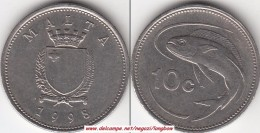 MALTA 10 CENTS 1998 (Lira) - KM#96 - Used - Malta