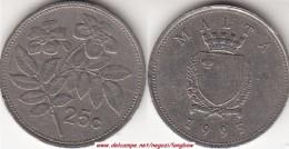 MALTA 25 CENTS 1995 (Lira) - KM#97 - Used - Malta