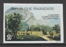 TIMBRE NEUF DU RWANDA - 10EME ANNIVERSAIRE DU CONSEIL INTERNATIONAL DE LA LANGUE FRANCAISE N° COB PA 11 ND - Languages