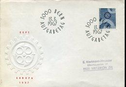 10928 Switzerland,  Fdc  Europa 1967 - FDC