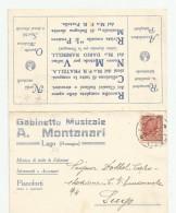 B842 I) LUGO -  PUBBLICITA´ STRUMENTI MUSICALI CART DOPPIA V/G 1927 - Ravenna