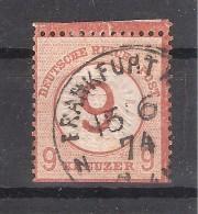 Allemagne Deutsches Reich,1872 AIGLE Gros Ecusson Yvert N° 5, 9 Sur 9 KREUZER Brun Obl Frankfurt / M,B/TB,cote 390 Euros - Allemagne