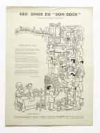 Diner Du Bon Bock N°480 Mars 1953 Poésie Emile Moussat, Illustration J.Pruvost - Timbres