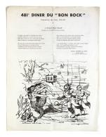 Diner Du Bon Bock N°481 Juin 1953 Poésie R. Lacroix, Illustration ?ognard - Menus