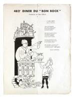 Diner Du Bon Bock N°482 Novembre 1953 Poésie G. Blanchard, à Jean Rieux - Menus