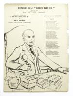 Diner Du Bon Bock N°486 Janvier 1955 Poésie Richard Lesecq, Illustration G.Henderyksen - Menus
