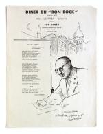 Diner Du Bon Bock N°489 Février 1956 Poésie M. Herbert, à Armand Ziwès - Menus