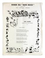 Diner Du Bon Bock N°490 Mai 1956 Poésie R. Fauchois, à Pierre Varenne - Menus