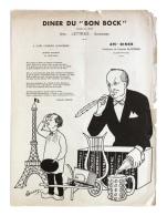 Diner Du Bon Bock N°491 Novembre 1956 Poésie Richard Lesecq, à G. Blanchard - Menus