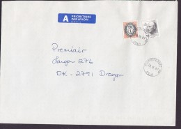 Norway A PRIORITAIRE Par Avion Label YOUNGSTORGET Oslo 1997 Cover Brief Denmark Posthorn & Olav Stamps - Norwegen