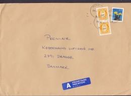Norway A PRIORITAIRE Par Avion Label MOSS 1997 Cover Brief Denmark Flower & Posthorn Stamps - Norwegen