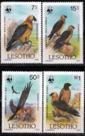 LESOTHO- 1986- WWF- Birds Of Prey- Lamergeier ( Bearded Vulture) Gypaetus Barbatus-gypaète Barbu - W.W.F.