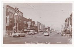 Wenatchee Washington, Street Scene Business District, Bank Owl Drugstore, Autos, C1950s Vintage Real Photo Postcard - Otros