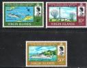 British Virgin Islands SG217-219 1967 Inauguration Of Bermuda-Tortola Telephone Service Set 3v Complete Unmounted Mint - British Virgin Islands
