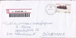 Spain Registered Certificado SOLLER 2005 Cover Letra Denmark ATM / Frama Label Train Zug Locomotive - Poststempel - Freistempel