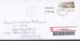 Spain Registered Certificado SOLLER 2005 Cover Letra Denmark ATM / Frama Label Arquitectura Postal Ferrol - Poststempel - Freistempel