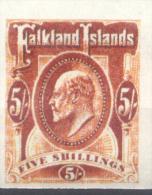 FALSCH FALKST FALKLAND ISLANDS - ISLAS MALVINAS AÑOS 1904-1905 EDUARDO VII YVERT NR. 25 NON DENTELE??? RARE MNH - Falkland