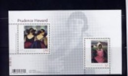 CANADA, 2010 # 2396,  ART CANADA: PRUDENCE HOWARD, ROLLANDE & AT THE THEATRE PAINTING.   MNH - Blocks & Sheetlets