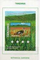 2008 Tanzania Botanical Garden And Bird Bustard  Souvenir Sheet  Complete  Set Of  1   MNH - Tanzania (1964-...)