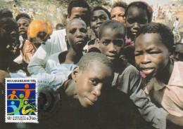 1984 UN Vienna Stamps FDC Maximum CARD (postcard YOUTHS In N´DJAMENA CHAD)  United Nations Cover Tchad - Maximum Cards