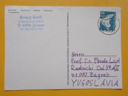 D 281 - LEIMEN CARTE POSTALE Correspondence Chess Fernschach Postcard - Allemagne