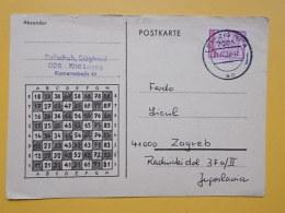 D 274 - LEIPZIG  CARTE POSTALE Correspondence Chess Fernschach Postcard - [7] République Fédérale