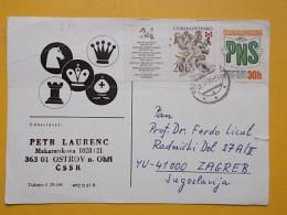 D 271 - OSTROV CARTE POSTALE Correspondence Chess Fernschach Postcard - Tchécoslovaquie