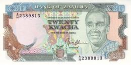 ZAMBIA 20 KWACHA ND (1990~) P-32b UNC  [ZM133b] - Zambie
