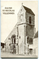 """Livret 1980 """"Eglise St Nicolas - Villennes"""" Près Poissy - Yvelines - Tirage Limité à 2500ex - Ile-de-France"""