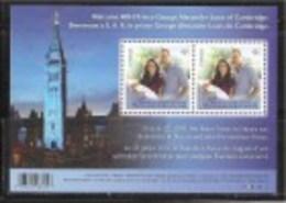 CAANDA. 2013, #2685, WILLIAMS, KATE & BABY GEORGE. SOUVENIR SHEET OF 2  SINGLE  M NH - Blocs-feuillets