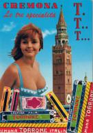 CREMONA   LE TRE  SPECIALITA'    T. T. T.   (VIAGGIATA) - Cremona