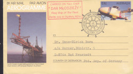 "SCHIFFSPOST, Tall Ship ""Dar Mlodziezy"", Fermantle Victoria Quay 12.DEC 1987 - Schiffahrt"