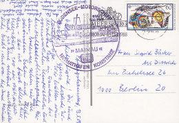 """SCHIFFSPOST, Bodensee Motorschiff """"Mainau"""", Meersburg 13.5.1989"""