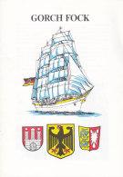 """""""Gorch Fock"""", 8-seitige Broschüre Dia A 5, Um 1988 - Schiffe"""