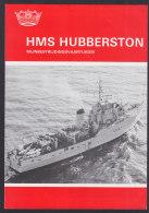 """Mijnenbestrijdingsvaartuigen HMS """"Hubbertson"""" MII47 Der Koninklijke Marine, 4-seitiges Infoblatt Mit Bildern, 1983 - Cataloghi"""