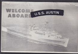 """USS """"Austin"""" LPD-4, Original Applikation Und 17-seitiger Broschüren (kopiert), Um 1966 - Cataloghi"""
