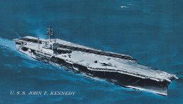 "USS ""John F. Kennedy"", CVA 67, Flugzeugträger, Bild Mit Technischen Daten Rückseitig - Schiffe"