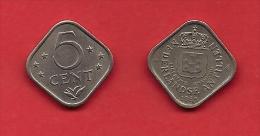 NETHERLAND ANTILLES, 2 Coins. 5 Cent Square - Nederlandse Antillen