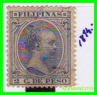ESPAÑA ( EUROPA ) COLONIAS  ESPAÑOLAS - FILIPINAS-    SELLO  -  ALFONSO XIII  AÑO 1894 - Philippines
