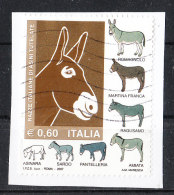 Italia   -   2007. Razze Italiane Asinine. Italian Breeds Of Donkeys. Self Adhesiv - Asini
