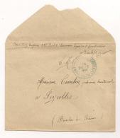 LETTRE DE 1917 DE DIEULEFIT ( 22EME BATAILLON DE CHASSEURS EQUIPE DE BOMBARDIERS )  A PEYROLLES  CPA339 - Marcophilie (Lettres)