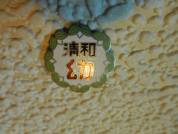 "VINTAGE OLD CHINA CHINESE 1950""S BEAUTIFUL AWARD BADGE PIN ENAMEL RARE NO OTHER - Associations"