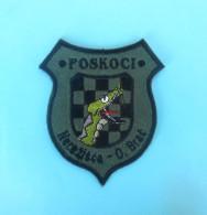 AIRSOFT CLUB POSKOCI - Nerezisca, Island Brac * Croatia Rare Embroidered Patch Ecusson Flicken Toppa Parche - Sports