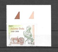 A167 Adhésif N°371 N++ Juliette Dodu Coin De Feuille - Adhésifs (autocollants)