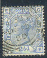 GREAT BRITAIN   68, Used,  Pl#  20,  Ultra/blue, Sound, SCV$65....   (gb068-4,   S.G   142,...... [16-fe - Used Stamps