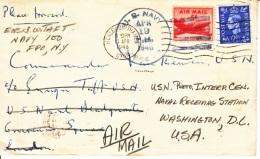 U.S.   POSTAL HISTORY COVER DUAL MIXED  FRANKING  U.K.- U.S.  1948 - United States