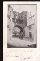 POSTAL - POSTCARD ITALIA ITALY 1901 - SUSA * PORTA SAVOIA E CHIESA DI S. GIUSTO * WHIT STAMP * - Otros