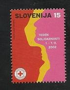 Slovenia: 2002 Postal Tax - Red Cross Solidarity Week MNH - Slovenia