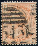 GREAT BRITAIN   69, Used, 4 Mgns, No Hidden Damage, SCV$ 500, RARE   (gb069-2,   S.G  152,  Pl#  15,  Vermilion..[16-ert - Used Stamps