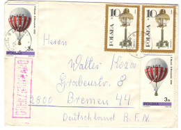 POLONIA - POLSKA - 1982 - 2 X 10 + 2 X 3 - Opened Passed By Censor - OCENZUROWANO - Viaggiata Da Chorzów Per Bremen, ... - 1944-.... Repubblica